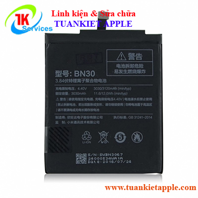 Pin Xiaomi Redmi Note 4A BN-30 3030mAh